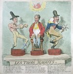 Les Trois Magots, published by Hannah Humphrey in 1791 Fine Art Print by Anwar Hussein