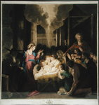 The Nativity, drawn by Josiah Boydell and engraved by G.J & J.G Fracius Fine Art Print by Master Francke