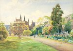 New College Border, 1918 Fine Art Print by Lincoln Seligman
