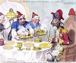 """Dumourier dining in State at St. James's on the 15th May 1793"", pub. by Hannah Humphrey, 1793"