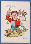 'Footballing Son', from the Happy Families card game, c.1890-1900 Poster Art Print by English School