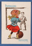 'Footballing Daughter', from the Happy Families card game, c.1890-1900 Poster Art Print by English School