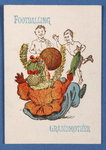 'Footballing Grandmother' from the Happy Families card game, c.1890-1900 Poster Art Print by English School