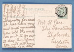 Reverse side of 'Well Saved' postcard Fine Art Print by English School