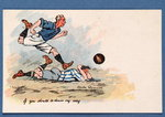 'If You Should Be Down My Way', football postcard, 1903 Fine Art Print by English School