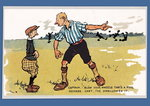'Captain - Blow Your Whistle That's A Foul', football postcard Fine Art Print by P.J. Crook