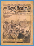 Front cover of 'The Boys' Realm of Sport and Adventure', no.295, Vol. VI, 25th January 1908 Fine Art Print by English School