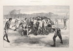 'A Match at Football: The Last Scrimmage', from 'The Illustrated London News', 25th November 1871 Fine Art Print by English School