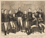 International Football Match at Kennington Oval: England vs. Scotland - The Scotch Team, from 'The Graphic', 1879 Fine Art Print by English School
