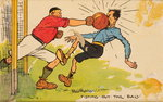 Fisting out the Ball, a mounted postcard Fine Art Print by English School