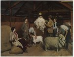 Weighing the Fleece, 1921 Fine Art Print by Clive Uptton