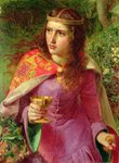 Queen Eleanor, 1858 Fine Art Print by Evelyn De Morgan