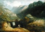 Pont Aberglaslyn, 1809 Fine Art Print by Joseph Mallord William Turner