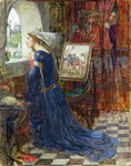 Fair Rosamund, c.1916 Wall Art & Canvas Prints by Ruth Addinall