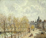 The Malaquais Quay in the Morning, Sunny Weather, 1903 Postcards, Greetings Cards, Art Prints, Canvas, Framed Pictures & Wall Art by Camille Pissarro