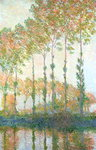 Poplars on the Banks of the Epte, Autumn, 1891 Fine Art Print by Claude Monet