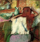 Woman at her Toilet, c.1895-1900 Postcards, Greetings Cards, Art Prints, Canvas, Framed Pictures, T-shirts & Wall Art by Pierre Auguste Renoir