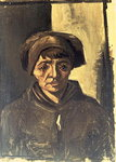 Bust of a Peasant, 1884 Fine Art Print by French School