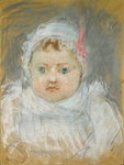 Blanche Pontillon as a Baby, 1872 Fine Art Print by Kate Perugini