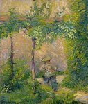 Woman in the Garden Fine Art Print by Pierre-Auguste Renoir