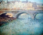 View of the Pont Neuf Wall Art & Canvas Prints by Paul Signac