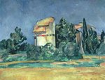 Pigeon Tower at Bellevue, 1894-95 Fine Art Print by Paul Cezanne
