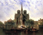 Notre-Dame Cathedral, Paris, 1893 Wall Art & Canvas Prints by Jean-Baptiste Oudry