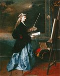 The Painter, 1864 Wall Art & Canvas Prints by Rolinda Sharples