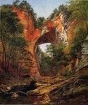 A Natural Bridge, Virginia, 1860 Fine Art Print by Thomas Moran
