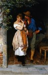 Couple Courting, 1887 Fine Art Print by Charles James Lewis