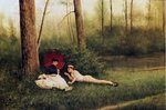 A Rest After Boating, 1885 Fine Art Print by Charles James Lewis