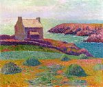 A Cottage in Brittany, 1898 Fine Art Print by Ted Blackall