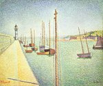 Portrieux, Brittany, 1888 Wall Art & Canvas Prints by Theo van Rysselberghe