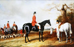 A Meet of His Majesty's Buckhounds Fine Art Print by Abraham Cooper