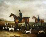 Michael Beverley with his Whipper in and Harriers, 1831 Fine Art Print by Abraham Cooper