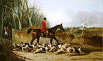 Crocteth Harriers, back of Stanfield Fine Art Print by Jacob Isaaksz. or Isaacksz. van Ruisdael