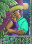 Romance Jibaro, 2003 (coloured pencil on paper) Wall Art & Canvas Prints by Susan Bower