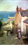 Newlyn from the bottom of Adit Lane, 1886-94 Postcards, Greetings Cards, Art Prints, Canvas, Framed Pictures, T-shirts & Wall Art by English School