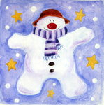 Cosy Snowman, 2001 Fine Art Print by Alex Smith-Burnett