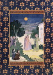 Moon of Beauty, illustration for 'The Arabian Nights', 1895 Fine Art Print by Pahari School