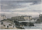 The Ile Saint-Louis, 1832 Fine Art Print by Franco-Flemish School