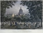 Jardin du Luxembourg, engraved by Frederic Martens Wall Art & Canvas Prints by Lisa Graa Jensen