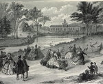 The Jardin d'Acclimatation, Paris, 1855 Fine Art Print by Constantin Guys