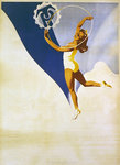 Poster for Polish gymnastics, 1946 Fine Art Print by Lincoln Seligman