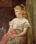 Portrait of a Girl, 1896 Wall Art & Canvas Prints by Ralph Hedley