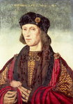 T31778 Portrait of Henry VII Wall Art & Canvas Prints by English School