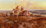 The Wagons Wall Art & Canvas Prints by Charles Marion Russell