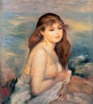 The Blonde Bather, c.1887 Fine Art Print by Pierre-Auguste Renoir