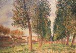 The Poplar Avenue at Moret, Cloudy Day, Morning, 1888 Poster Art Print by Alfred Sisley