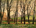 Chestnut trees at the Jas de Bouffan, c.1885-87 Postcards, Greetings Cards, Art Prints, Canvas, Framed Pictures, T-shirts & Wall Art by Paul Cezanne